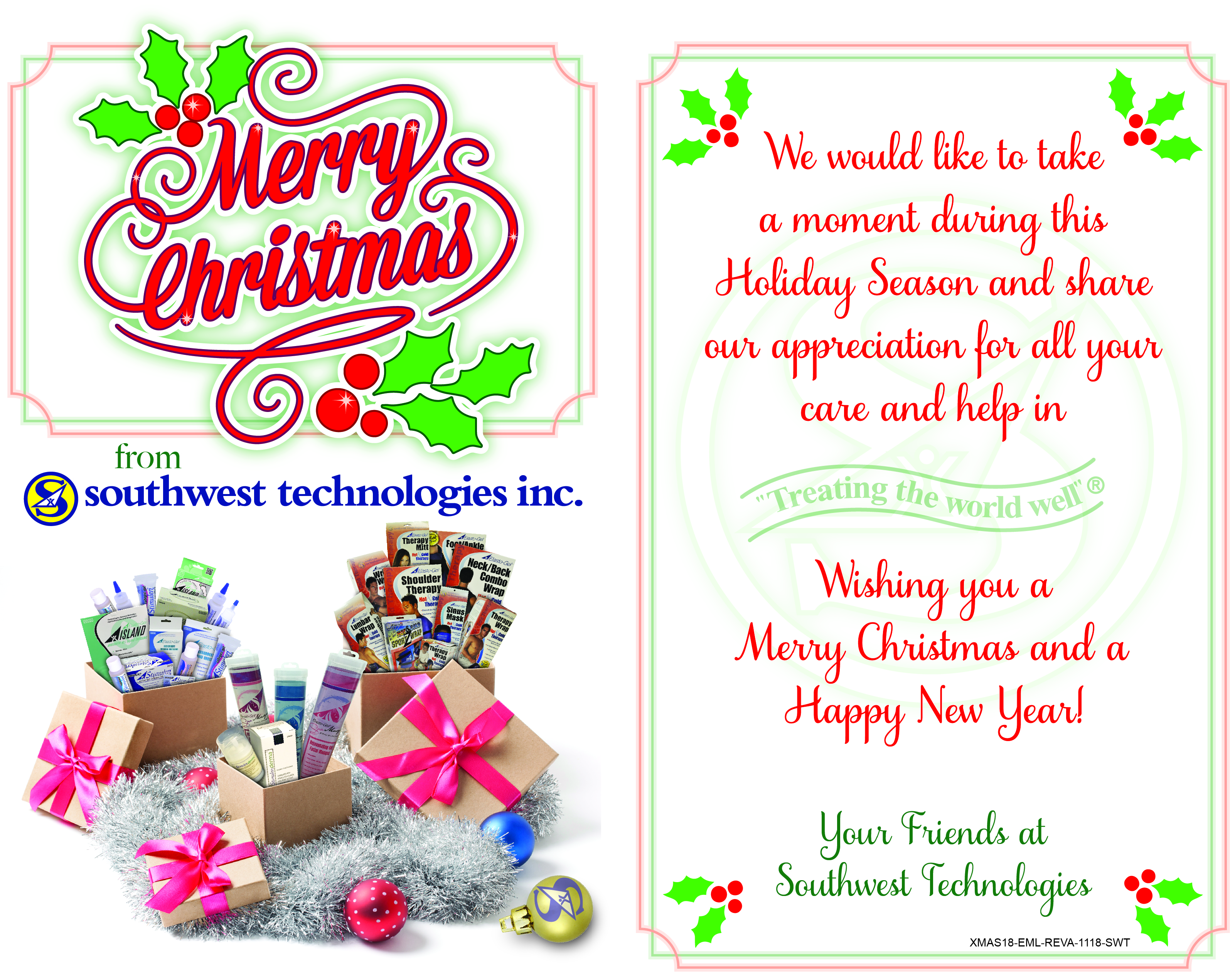 Merry Christmas from Southwest Technologies 2018