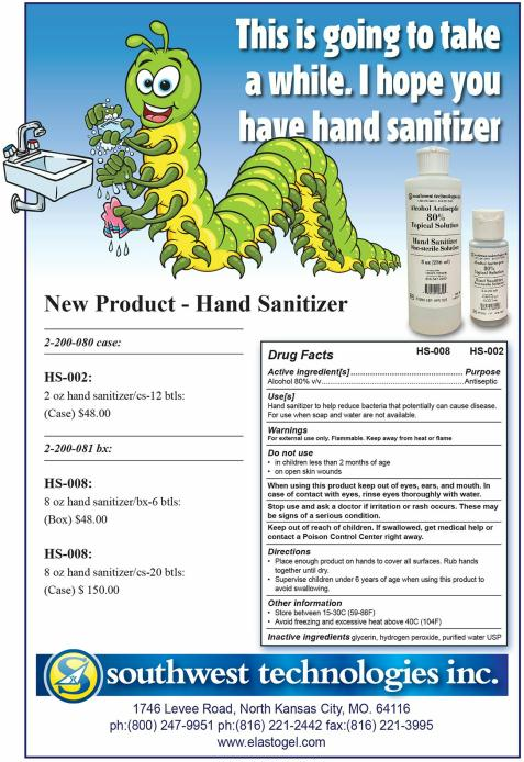 Southwest Hand Sanitizer Launch